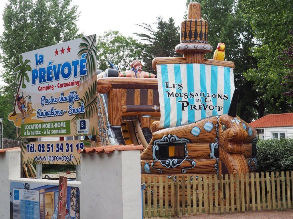 camping la prévoté saint hilaire de Riez - chateau gonflable