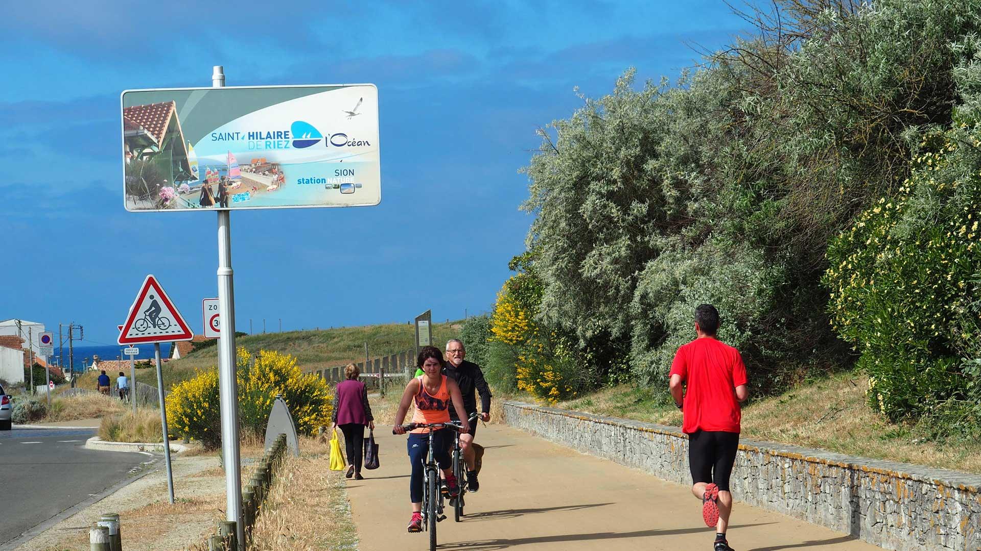 piste cyclable Saint Hilaire de Riez