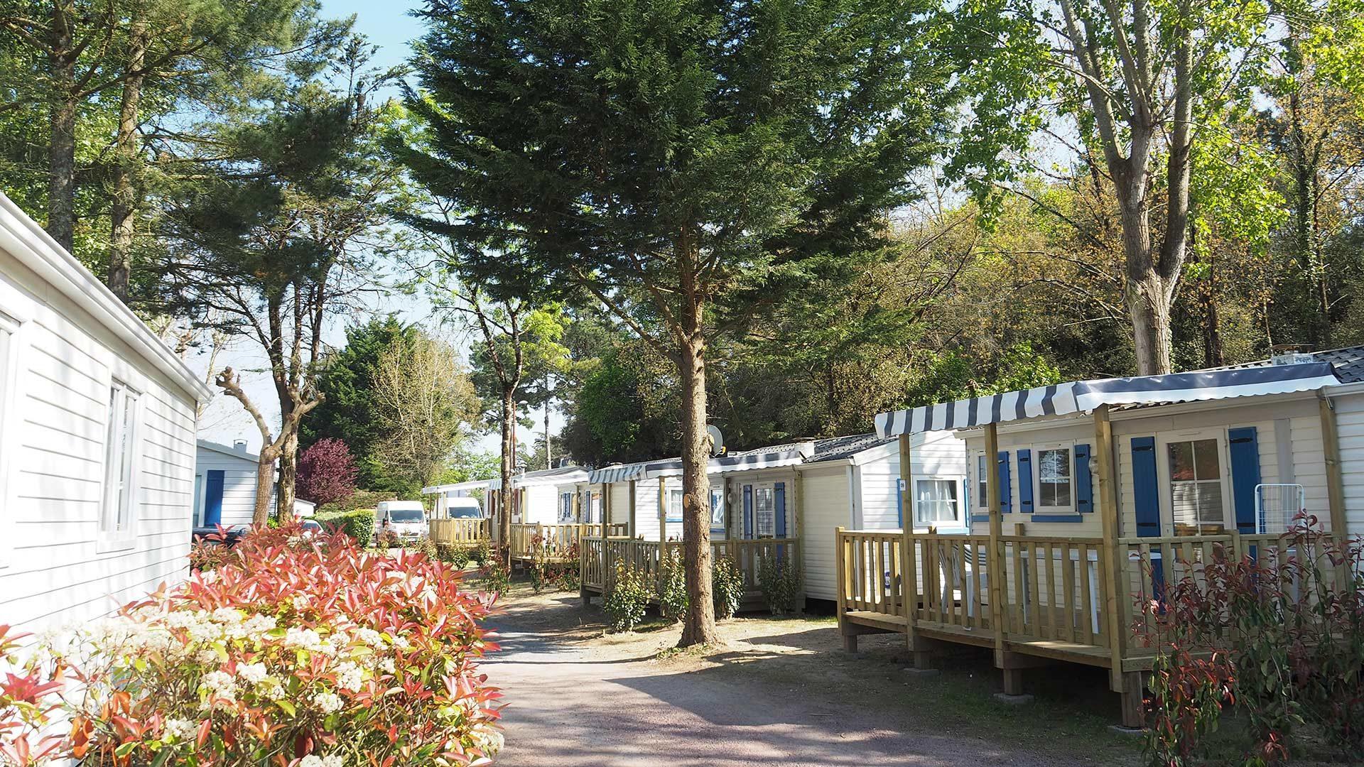 hébergements du camping à st hilaire de riez